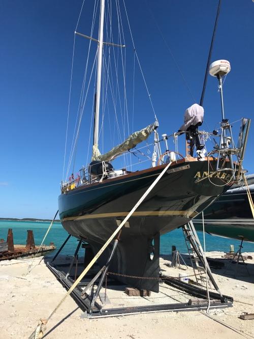 Antares at the boat yard